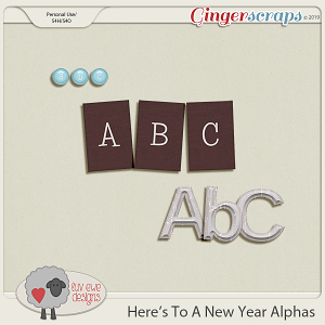 Here's To A New Year Alphas by Luv Ewe Designs
