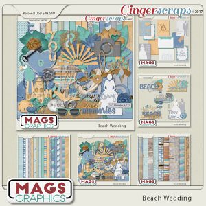 Beach Wedding BUNDLE by MagsGraphics