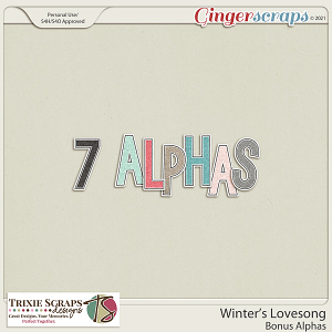 Winter's Lovesong Bonus Alphas by Trixie Scraps Designs