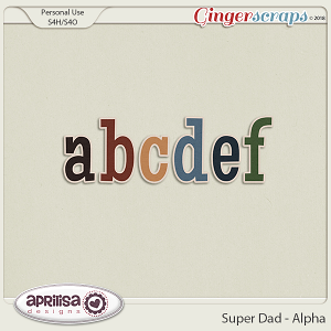 Super Dad - Alpha by Aprilisa Designs