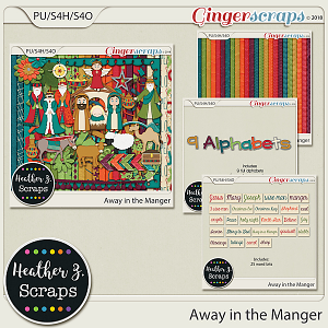 Away in a Manger BUNDLE by Heather Z Scraps