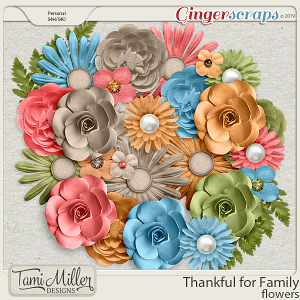 Thankful for Family Flowers by Tami Miller Designs