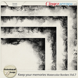 Keep your memories Watercolor Borders Vol.7