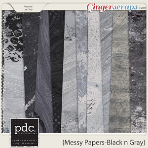 Messy Papers (Black & Gray)