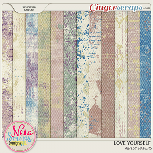 Love Yourself- Artsy Papers - By Neia Scraps
