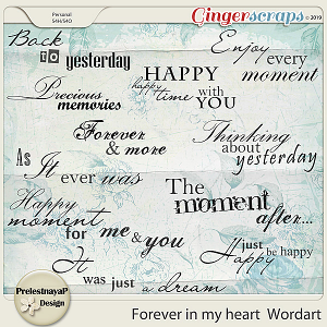 Forever in my heart Wordart
