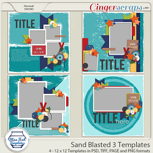 Sand Blasted 3 Templates by Miss Fish