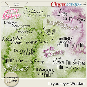 In your eyes Wordart