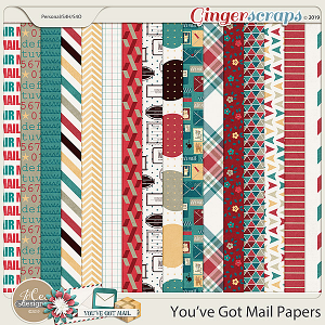 You've Got Mail Papers by JoCee Designs
