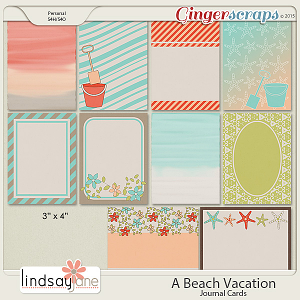 A Beach Vacation Journal Cards by Lindsay Jane