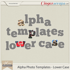 Alpha Photo Templates – Lower Case by JoCee Designs