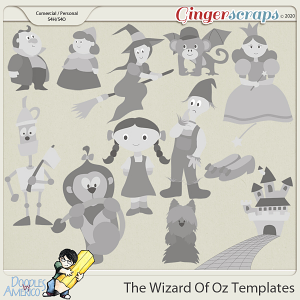 Doodles By Americo: The Wizard Of Oz Templates