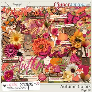 Autumn Colors - Page Kit - by Neia Scraps