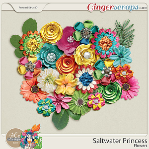 Saltwater Princess Flowers by JoCee Designs