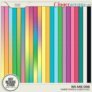 We Are One Ombré Papers & Cardstocks by JB Studio