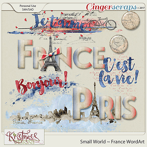 Small World ~ France WordArt