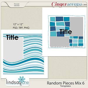 Random Pieces Mix 6 Templates by Lindsay Jane
