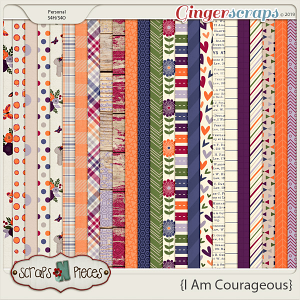 I Am Courageous Papers by Scraps N Pieces