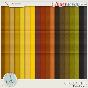 Circle Of Life Plain Papers by Ilonka's Designs