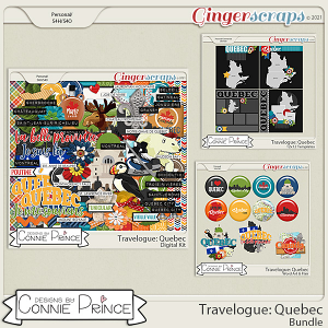 Travelogue Quebec Canada - Bundle Pack by Connie Prince