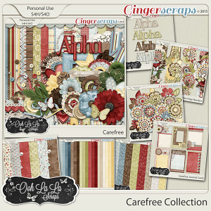 Carefree Digital Scrapbook Bundle