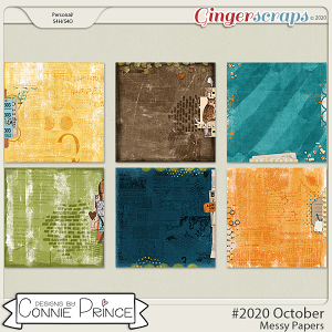 #2020 October - Messy Papers by Connie Prince