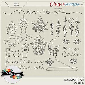 Namaste-ish - Doodles by Lisa Rosa Designs