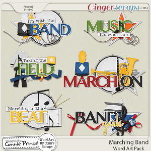 Marching Band - Word Art