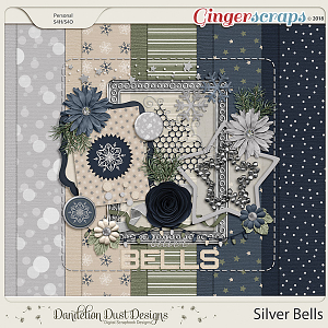 Silver Bells Digital Scrapbook Kit by Dandelion Dust Designs