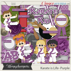 Karate is Life- Purple