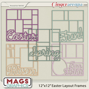 12x12 Easter Layout Frame Templates by MagsGraphics