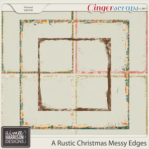 A Rustic Christmas Messy Edges by Aimee Harrison