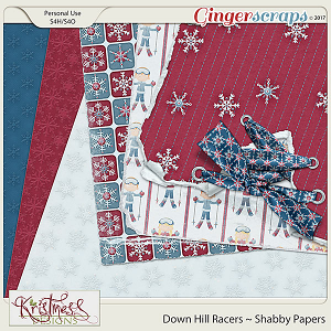 Down Hill Racers Shabby Papers