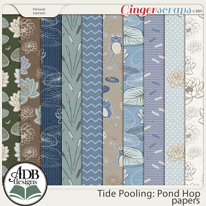 Tide Pooling: Pond Hop Patterned Papers by ADB Designs