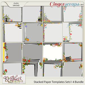 Stacked Paper Templates Sets 1-4 Bundle