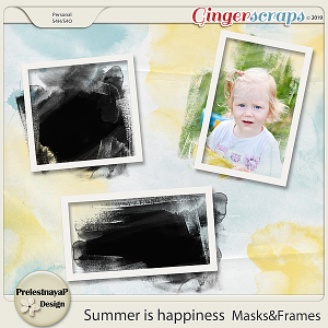 Summer is happiness Masks&Frames