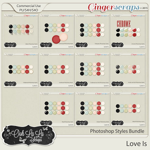Love Is CU Photoshop Styles Bundle