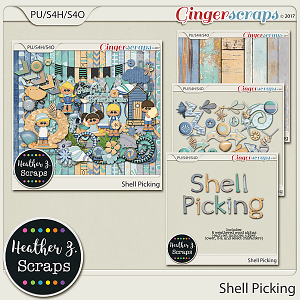 Shell Picking BUNDLE by Heather Z Scraps
