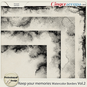 Keep your memories Watercolor Borders Vol.2