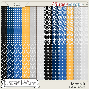 Moonlit - Extra Papers by Connie Prince
