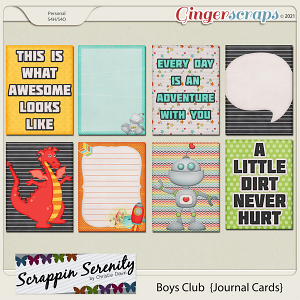 Boys Club Journal Cards