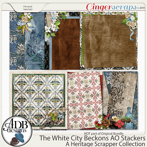 The White City Beckons Add-On Stackers by ADB Designs