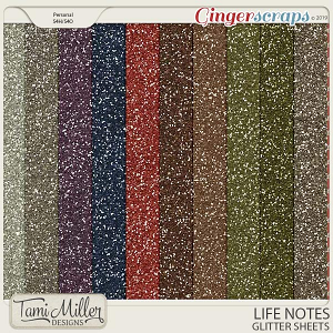 Life Notes Glitter Sheets by Tami Miller Designs