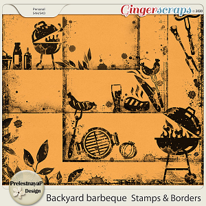Backyard barbeque Stamps & Borders
