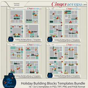 Holiday Building Blocks Template Bundle by Miss Fish