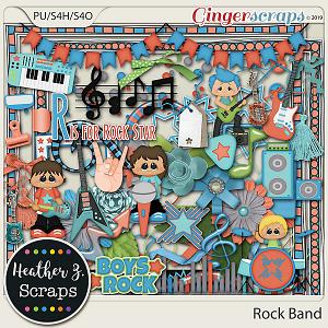 Rock Band BOY ELEMENTS by Heather Z Scraps