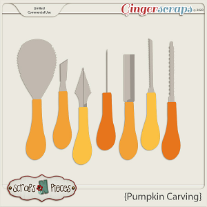 Pumpkin Carving CU Templates - Scraps N Pieces