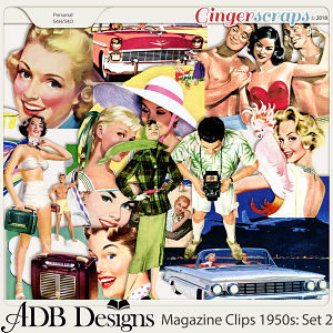 Heritage Resources Magazine Clips: The 1950's Set 02 by ADB Designs