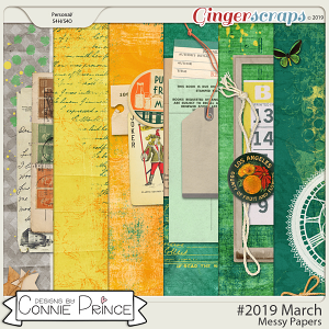 #2019 March - Messy Papers by Connie Prince