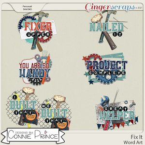 Fix It  - Word Art Pack by Connie Prince